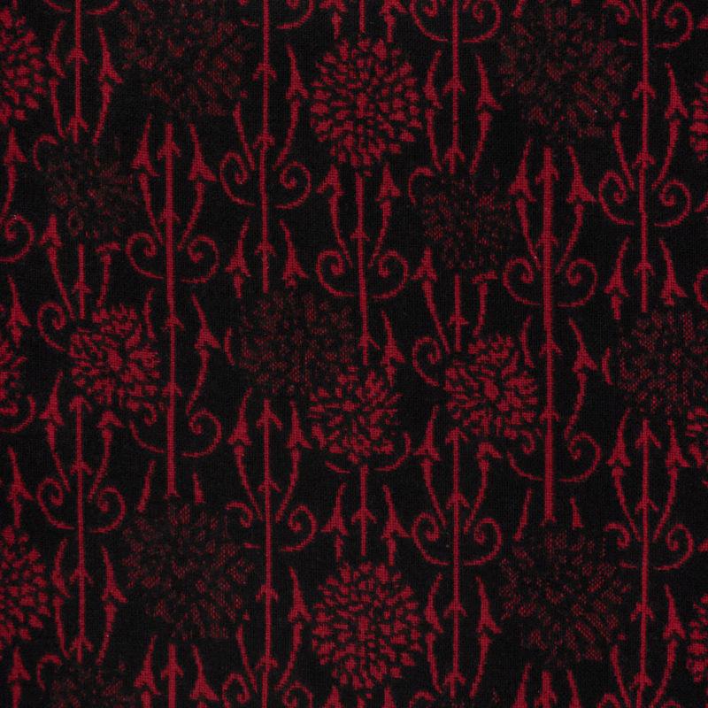کشمیر شاخهای قرمز-مشکی