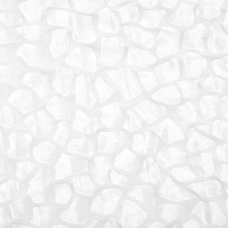 مخمل برنارد طرح سنگی سفید