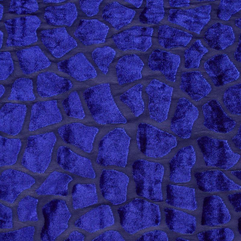 مخمل برنارد طرح سنگی آبی