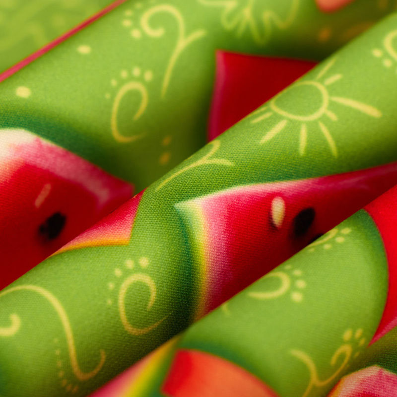کرپ مازراتی یلدایی طرح هندوانه سبز روشن