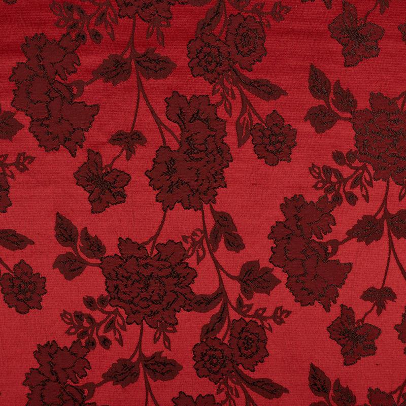 ژاکارد گلدار قرمز