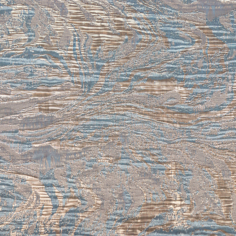 ژاكارد موجی ابروبادی آبی روشن