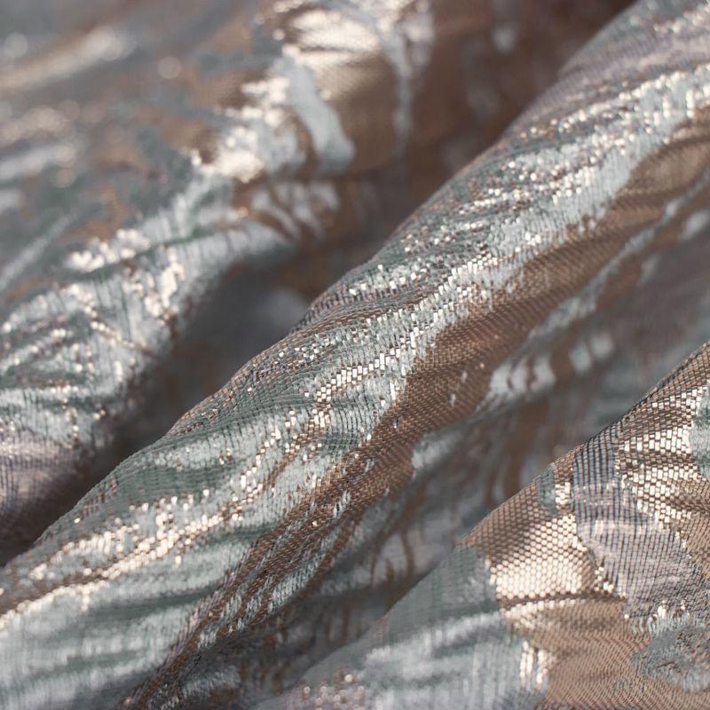 ژاكارد موجی ابروبادی سبزآبی روشن