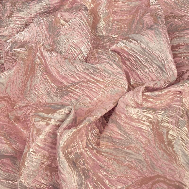 ژاكارد موجی ابروبادی صورتی روشن