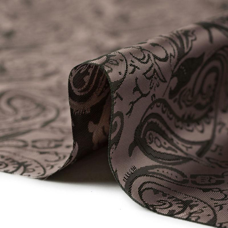 پارچه آستر طرح ترمه قهوهای