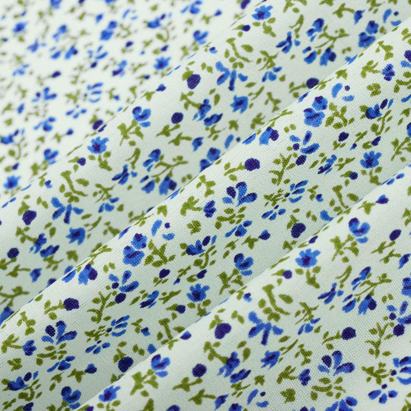 چادری گلباران سفید-آبی