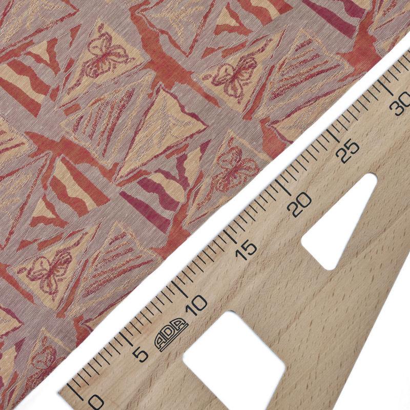 پارچه ژاکارد سیلک مثلثی آجری