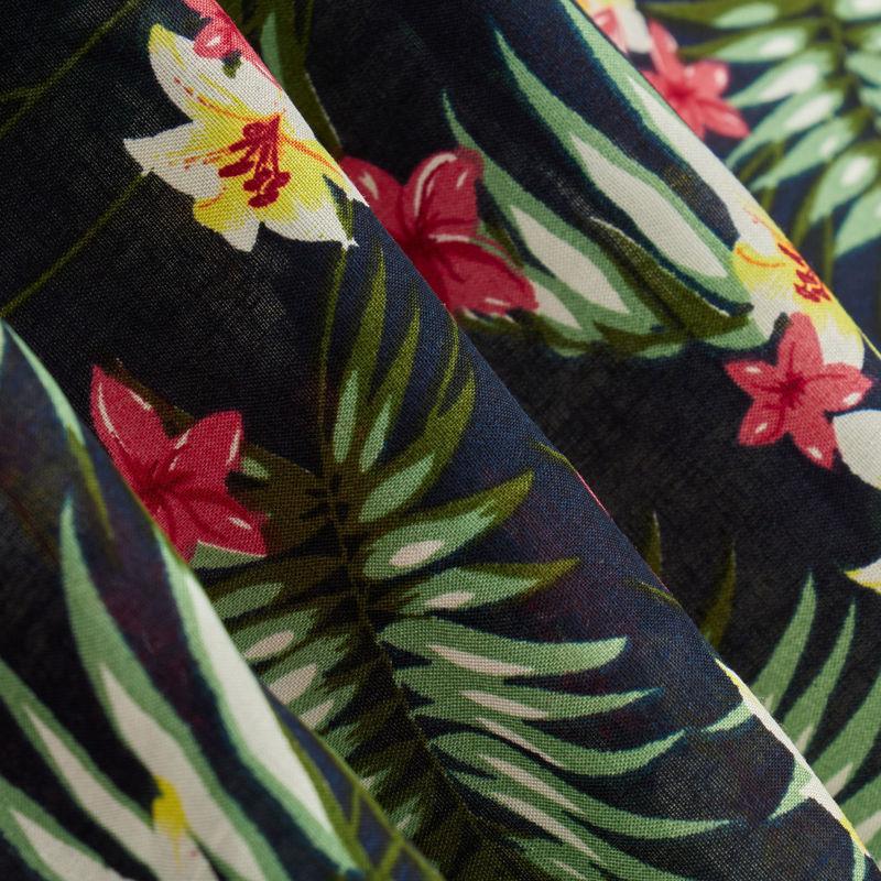 نخی برگ هاوایی گل ریز سبز