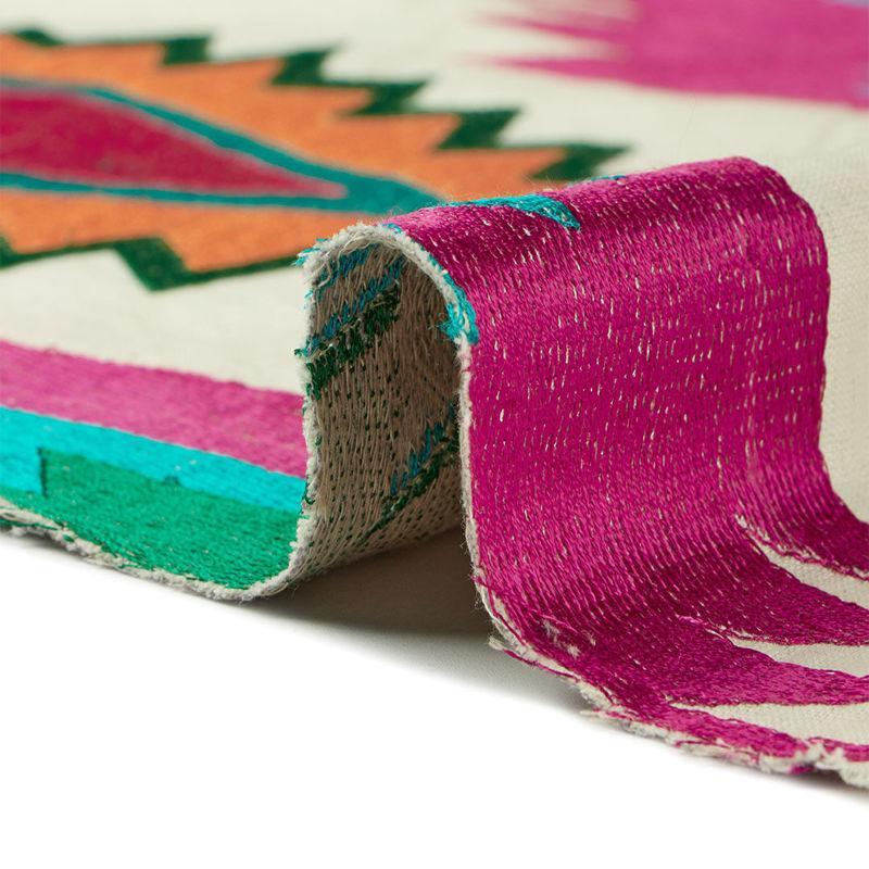 هندی بخارا دوزی سه بعدی سرخابی سبز