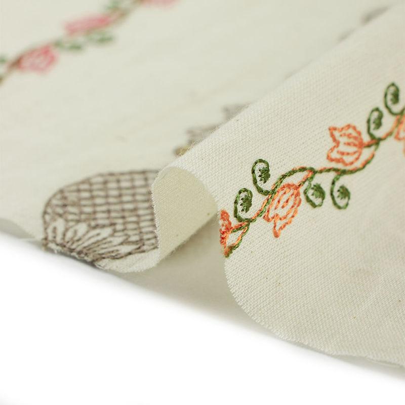 هندی بخارا دوزی خطی گل زیتونی