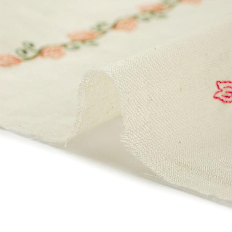 هندی بخارا دوزی خطی گل سبز