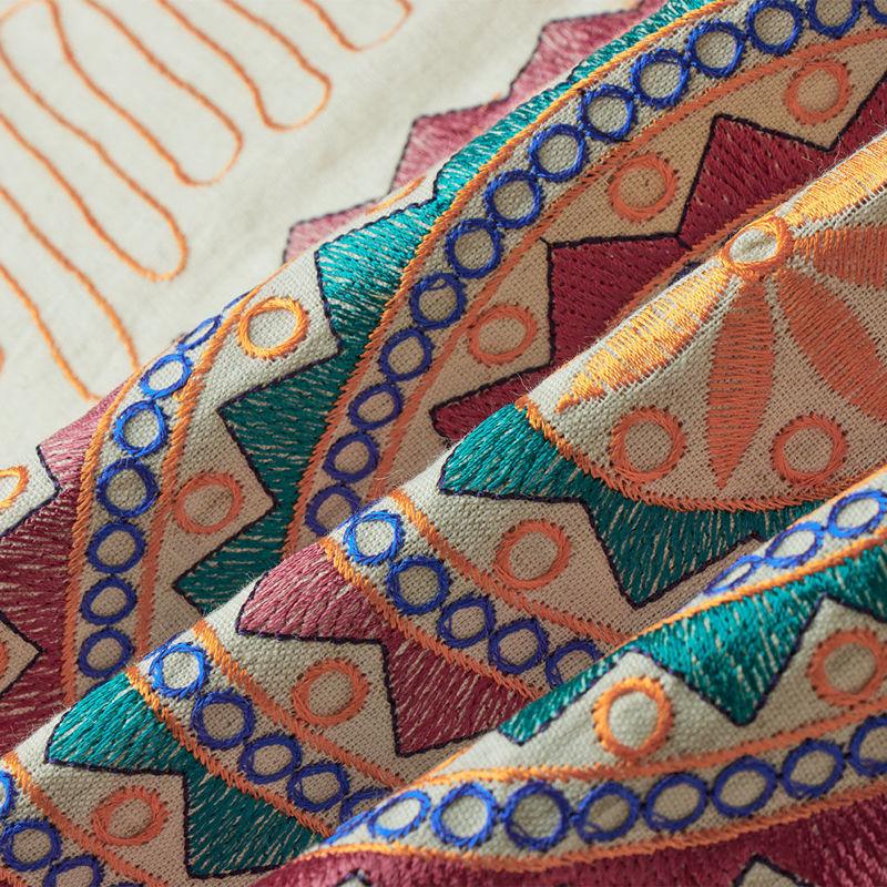 هندی بخارا دوزی پنل دایره ای نارنجی