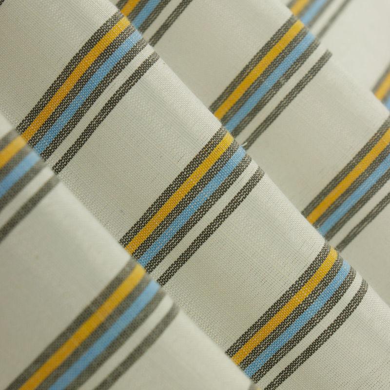 لینن راه راه سه خطی آبی زرد
