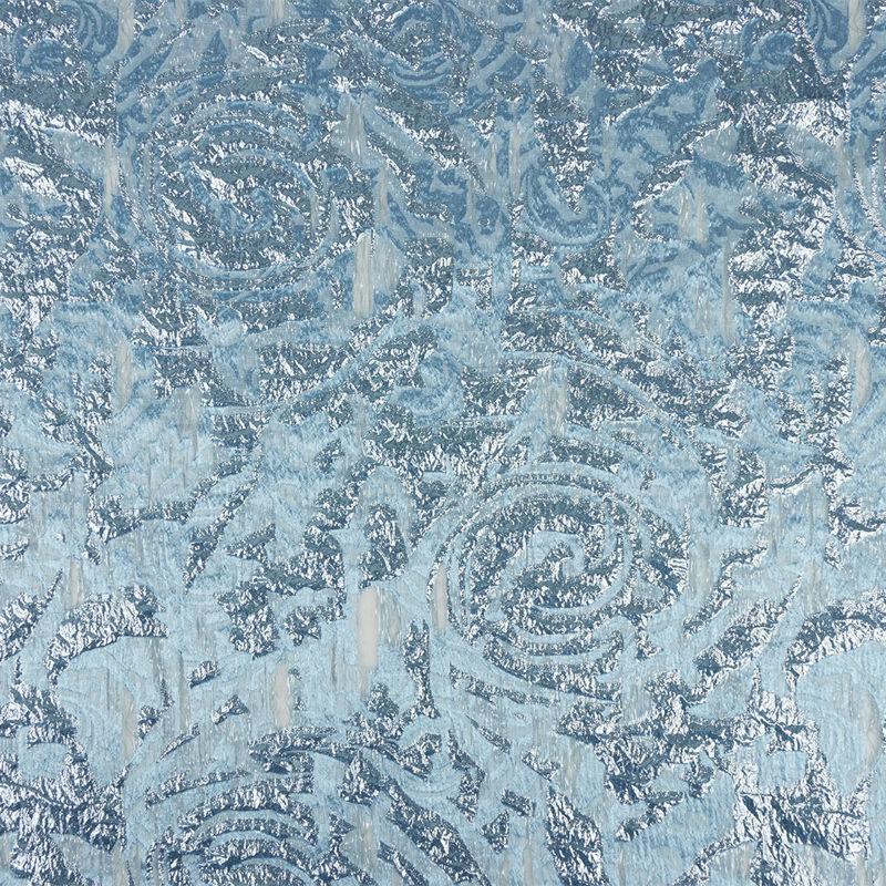 ژاکارد ارگانزا گل دار آبی نیلی