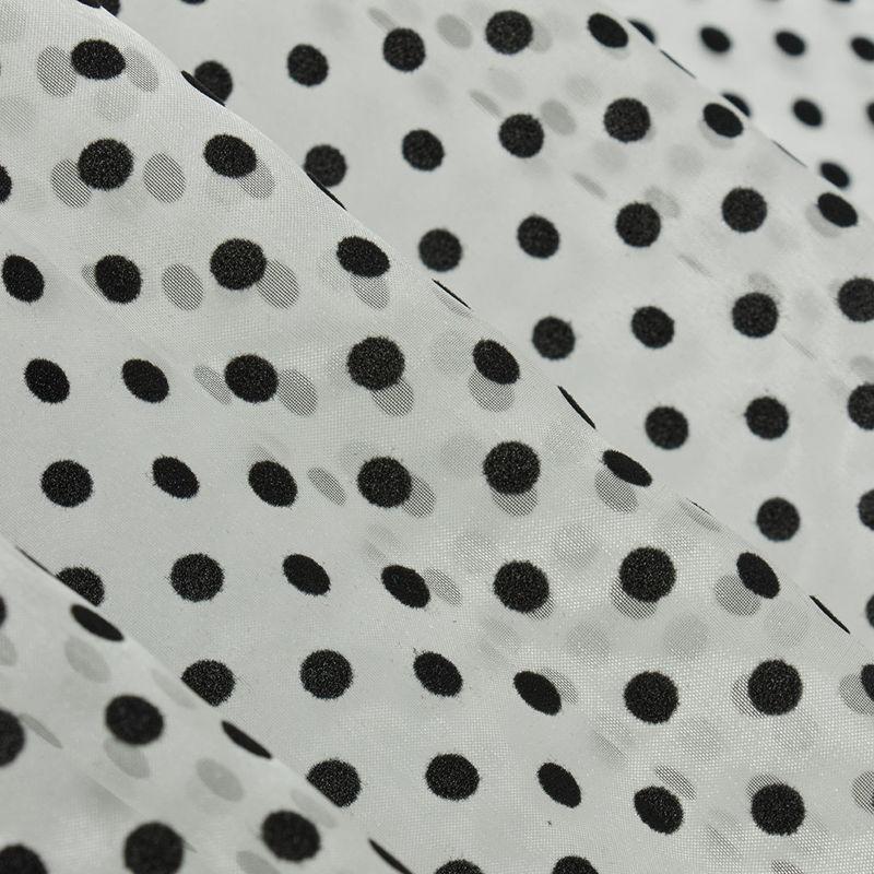 ارگانزا فلوک توپی متوسط سفید