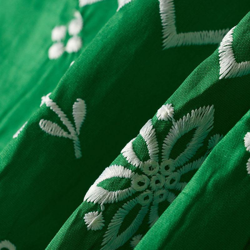 هندی تافته گل حاشیه سبز