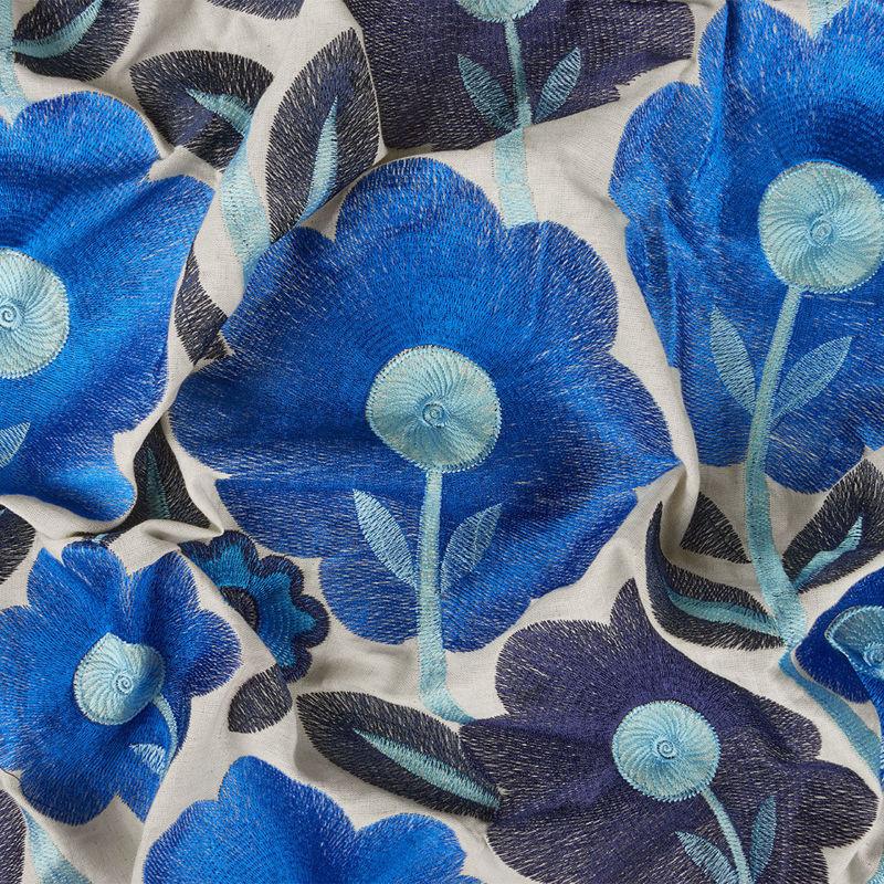 هندی بخارا دوزی گل درشت آبی