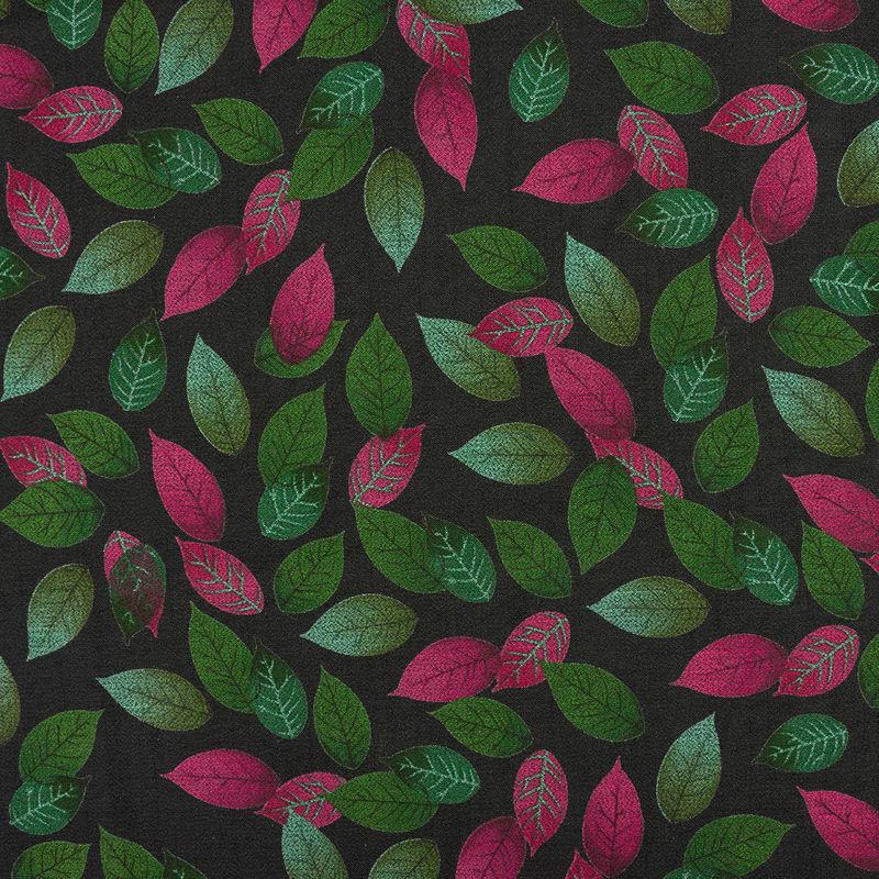 شانتون نخ برگ مشکی سبز