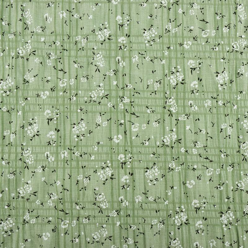 پارچه وال کراش گل و شاخه سبز