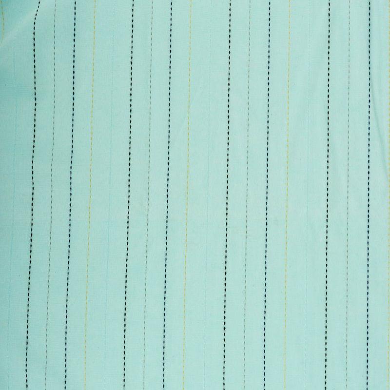 پارچه لینن کوک دوزی دو رنگ آبی فیروزه ای