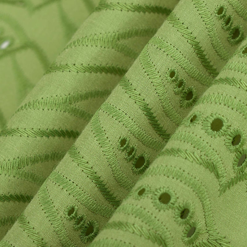 پارچه نخی وال شمشیری سبز فسفری
