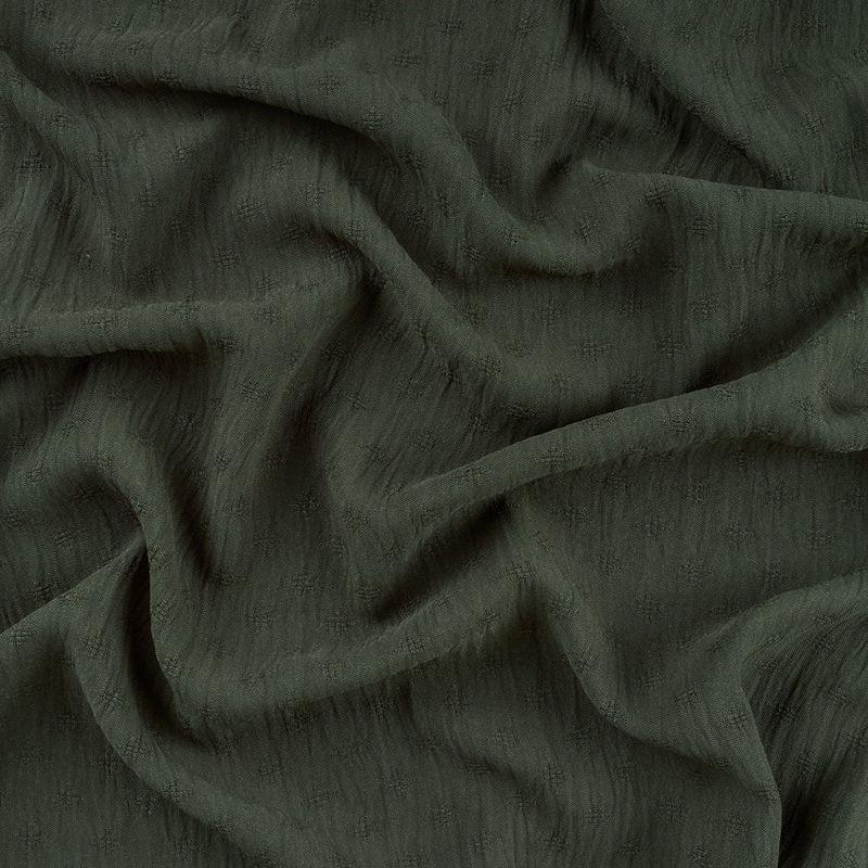پارچه مانتویی ابروبادی لوزی هاشور سبز سدری