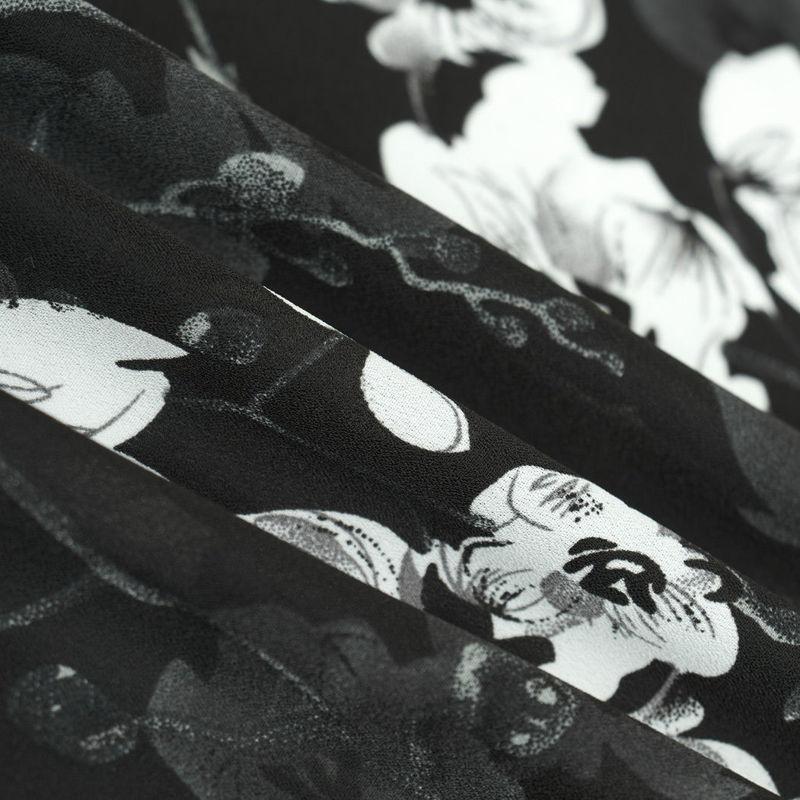 کرپ ژرژت گل بوته سفید
