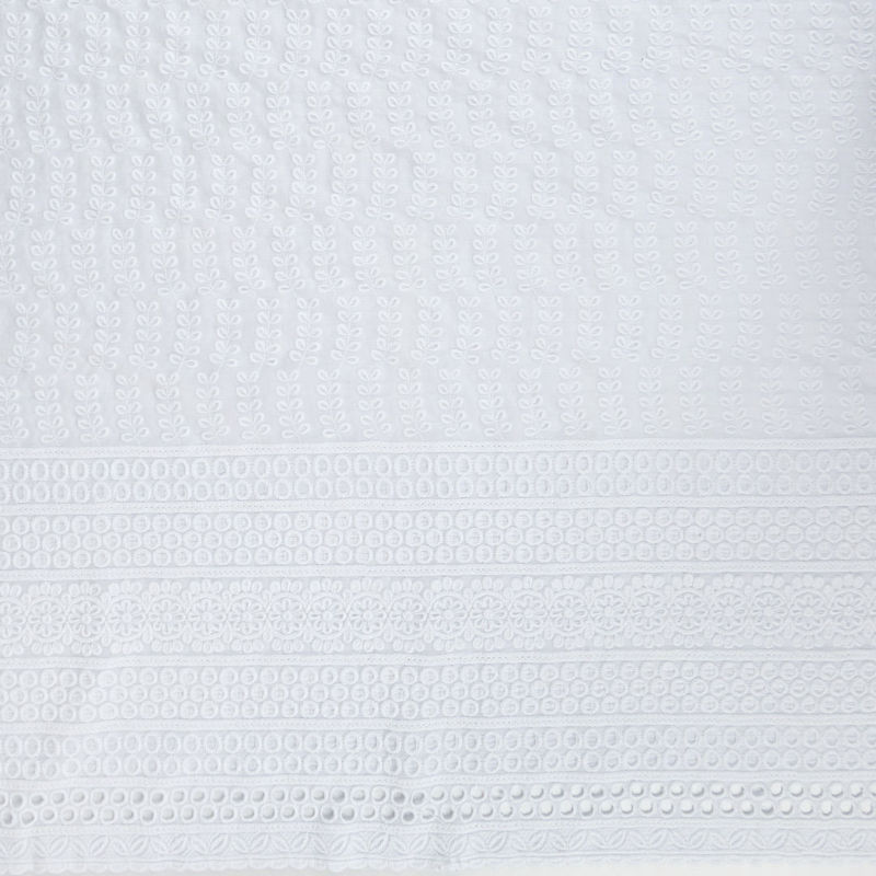 پارچه لینن هندی امبرودی دیزاین 50463 سفید
