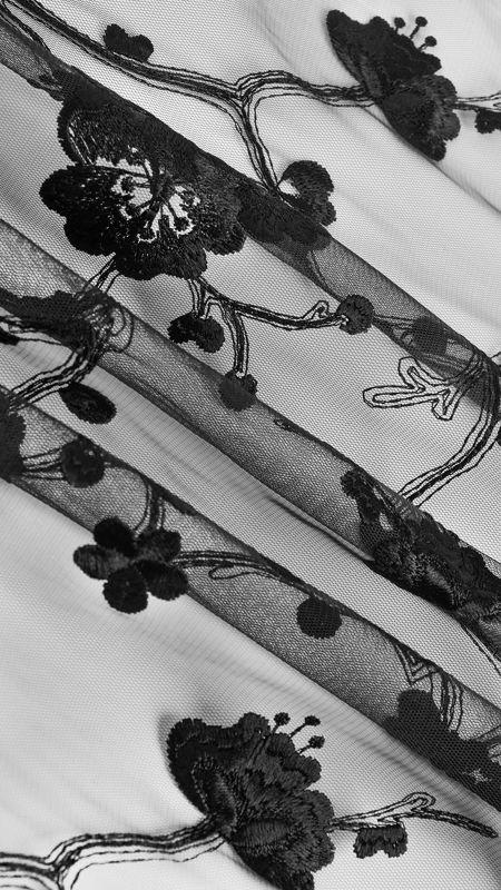 پارچه دانتل دیزاین 11 مشکی