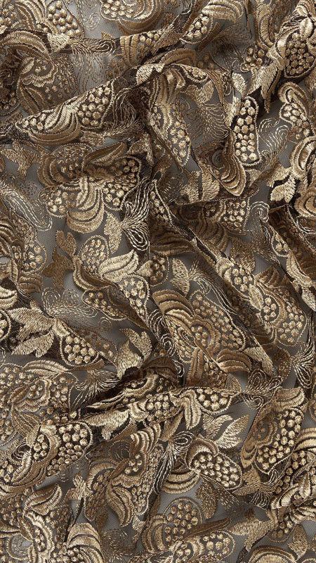 پارچه دانتل دیزاین 18321 مشکی کرم