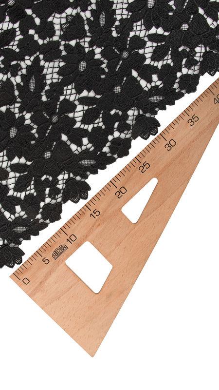 پارچه گیپور دیزاین 16 مشکی