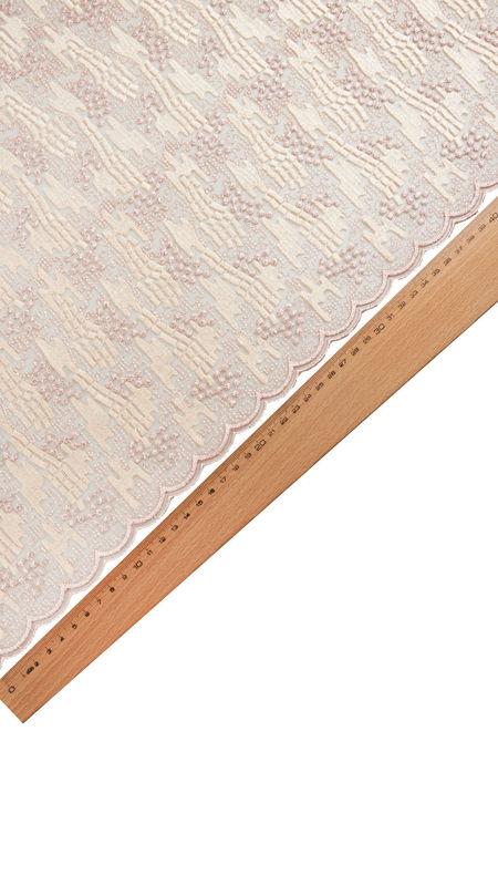 پارچه دانتل دیزاین 18314 پنککی