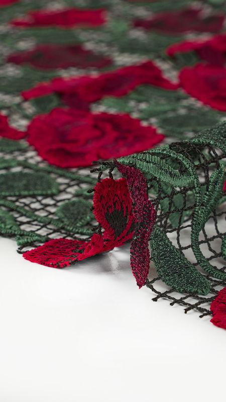 پارچه گیپور دیزاین40057 قرمز