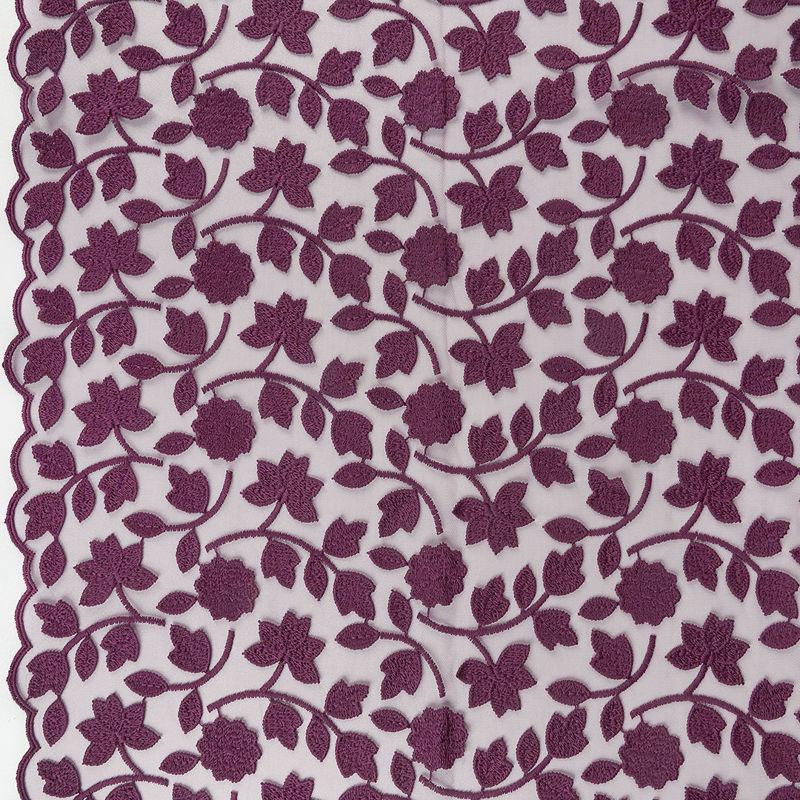 پارچه دانتل دیزاین19109 بادمجانی