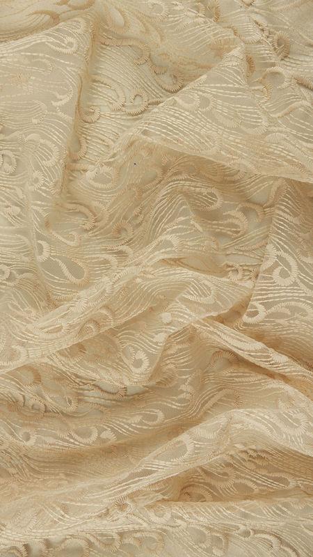 پارچه دانتل دیزاین26952 کرم