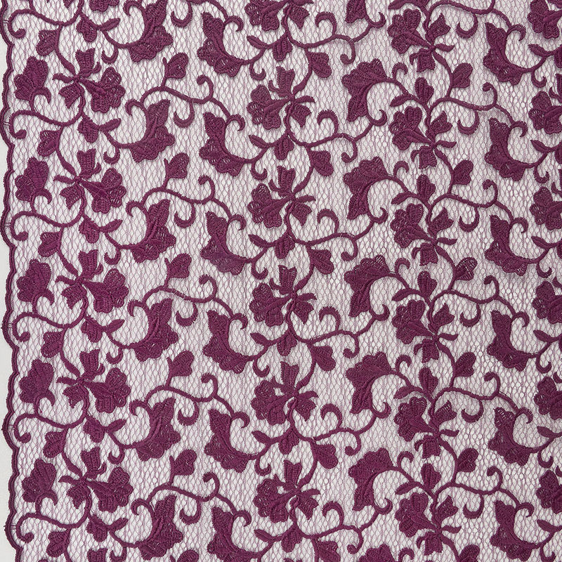پارچه دانتل دیزاین 19102 بادمجانی