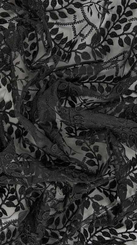 پارچه دانتل دیزاین 26950 مشکی