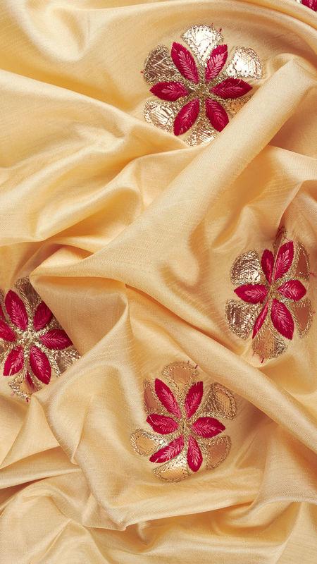 هندی تافته دیزاین 0612/1 طلایی زرشکی